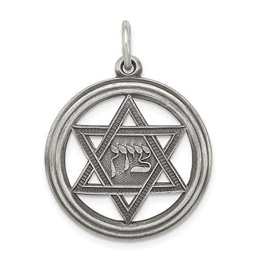 925 Sterling Silver Jewish Jewelry Star Of David Disc Pendant Charm Necklace Religious Judaica Fine Jewelry Gifts For Women For Her