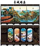 Vintage Oriental Style 6 Panels Screen Decorative Article (02)