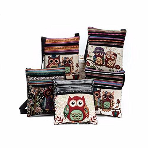 Mini Casual Bag Postman Bag Body C Cross Messenger Shoulder Handbag Look Bag BESTOPPEN D Package Tote Owl Women Bag New Embroidered Lovely Ladies Girls Fashion Bag Bag TC6UwxBq