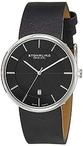 Stuhrling Original Men's 244.33151 Classic Ascot Fairmount Swiss Quartz Date Ultra-Slim Black Watch