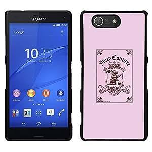 [Neutron-Star] Snap-on Series Teléfono Carcasa Funda Case Caso para Sony Xperia Z4v / Sony Xperia Z4 / E6508 [Pink Funny Joker Card Poker Puppy Pink]