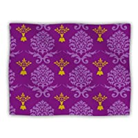 "Kess InHouse Nicole Ketchum ""Purple Crowns"" Pet Dog Blanket, 60 by 50-Inch"