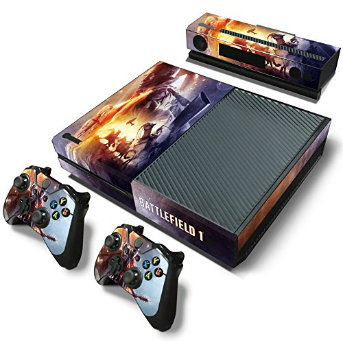 ZoomHit Xbox One Console Skin Decal Sticker Battlefield 1 + 2 Controller & Kinect Skins Set
