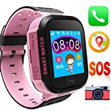 [Sim Card Included] Kid Smart Watch Track GPS Positioning SOS Remote Monitoring Record Kid Girls Boys Learning Game Voice Calls Flashlight Camera Birthday Compatible for Android iOS Review