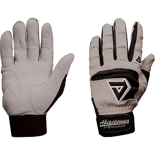 Akadema Professional Batting Gloves (Grey/Black, X-Large)