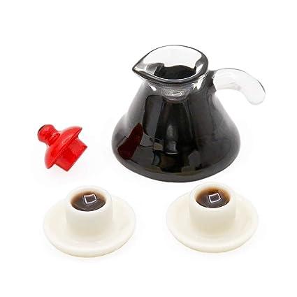 Amazon.es: Odoria 1/12 Miniatura Cafetera + 2 Tazas Cocina ...
