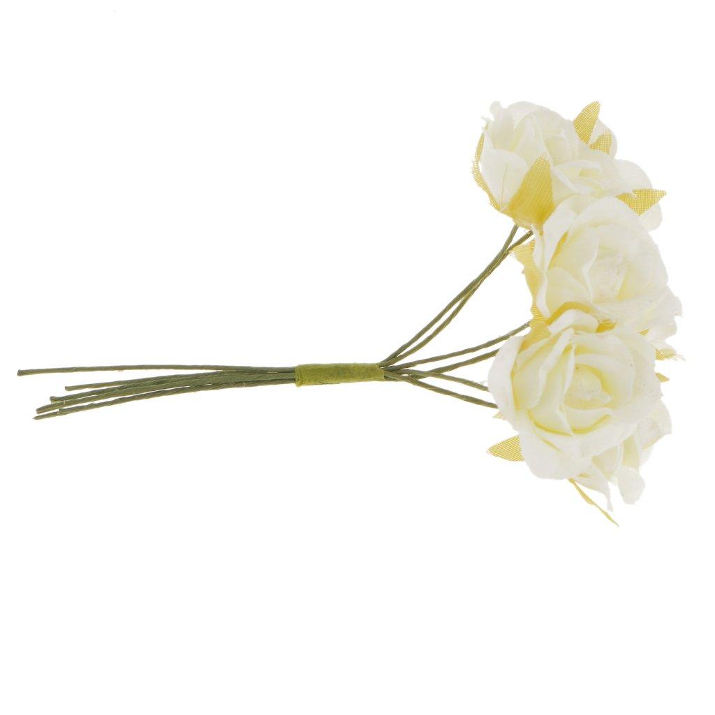 Arancione Forniture per feste Accessori da sposa Blesiya 60 Pezzi Artificial Rosa Di Seta Per Bouquet Da Sposa Polso Fiore Compleanno Festa
