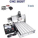 CNC Fräsmaschine 3020T 3 Achse Graviermaschine USB CNC Router 200mm x 300mm Engraver Milling FräSmaschine USBCNC Software