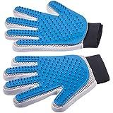 Pet Grooming Gloves - Left + Right - Enhanced Five Finger...