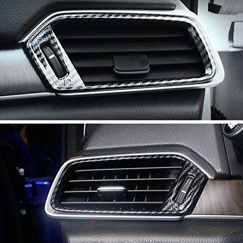 - New Carbon Fiber Print Side Air Vent Outlet Cover Trim for Honda Accord 10th 2018 (Side Air Vent Trim)