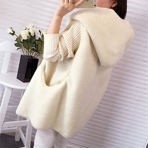 Beige Stylish Long Long Warm Cardigan Wool Outwear Sleeve Casual Winter Thick Stitching BoyFriend Womens Coat Blend Hooded Sweater wHtT57qC