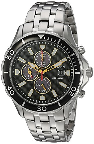 Citizen Men's 'Eco-Drive' Quartz Stainless Steel Casual Watch, Color:Silver-Toned (Model: CA0561-56E)
