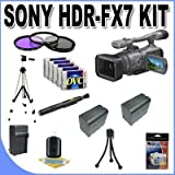 Sony HDR-FX7 3-CMOS Sensor HDV High-Definition Handycam Camcorder with 20x Optical Zoom + 2 Extended Life 970L Batteries + Ac/Dc Charger + Master Works Producing DVD + Accessory Saver Kit & More!!!