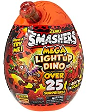 Smashers Epic Egg Mega Light-Up Dino, Dinosaur Toy, 25 surprises, Kids & Collectors Gift Ages 3+ Years, Multicolor, AZT7474