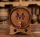 Sofia's Findings Custom Whiskey Barrel - Personalized Wine Barrel - Engraved Oak 2 Liter Barrel | Age your own Tequila, Whiskey, Rum, Bourbon, Wine
