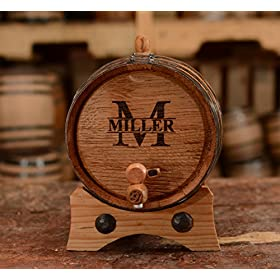 Sofia's Findings Custom Whiskey Barrel – Personalized Wine Barrel – Engraved Oak 2 Liter Barrel | Age Your own Tequila, Whiskey, Rum, Bourbon, Wine