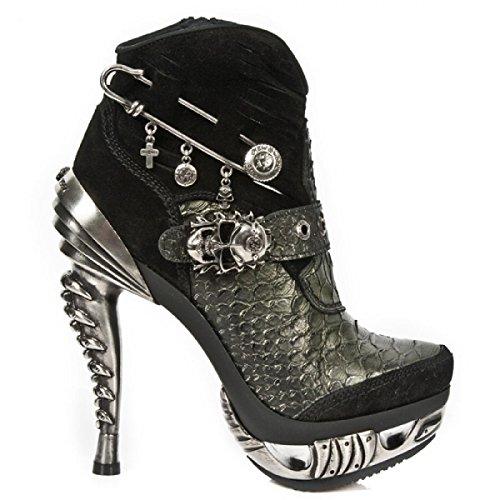 New Rock Boots M.mag032-s1 Gotico Hardrock Punk Damen Stiefelette Schwarz