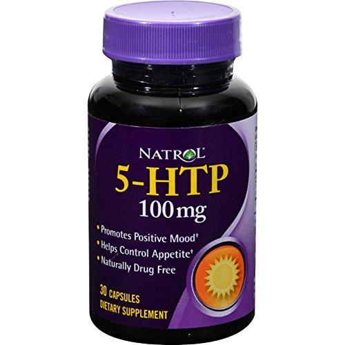 Natrol 5 - HTP - 100 mg - 30 Capsules - Promotes Positive Mood - Helps Control Apetite - Naturally Drug - Capsules 30 100 Mg Hydroxytryptophan