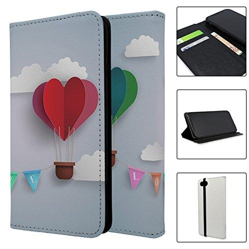 Origami Luftballons Love Full Flip Case Schutzhülle für für Apple iPhone 8–S321 y4gD3O4