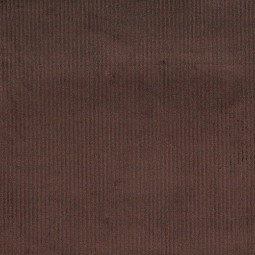 E382 Dark Brown Corduroy Striped Velvet Upholstery Fabric By The Yard (Velvet Fabric Striped)