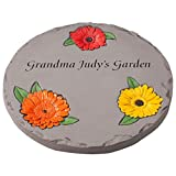 "Cheap Fox Valley Traders Personalized 12"" Daisy Garden Stepping Stone – Decorative, Colorful, Durable, Stepping Stone Ideal for Yard, Walkway or Garden – Weather-Resistant Cement"