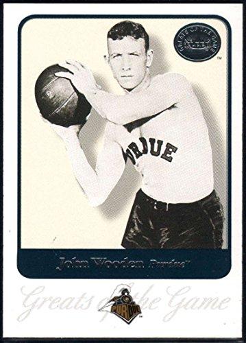 Basketball NBA 2001 Fleer Greats of the Game #42 John Wooden