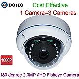 2MP 1080P 180° Degree Wide Angle Fish eye HD Analog AHD Mini Dome Vandal proof CCTV Security Camera IR Night Vision For Home