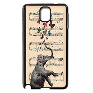 Big elephant art Hard Plastic Back Case Cover For For Samsung Galaxy Note 4 Case color9