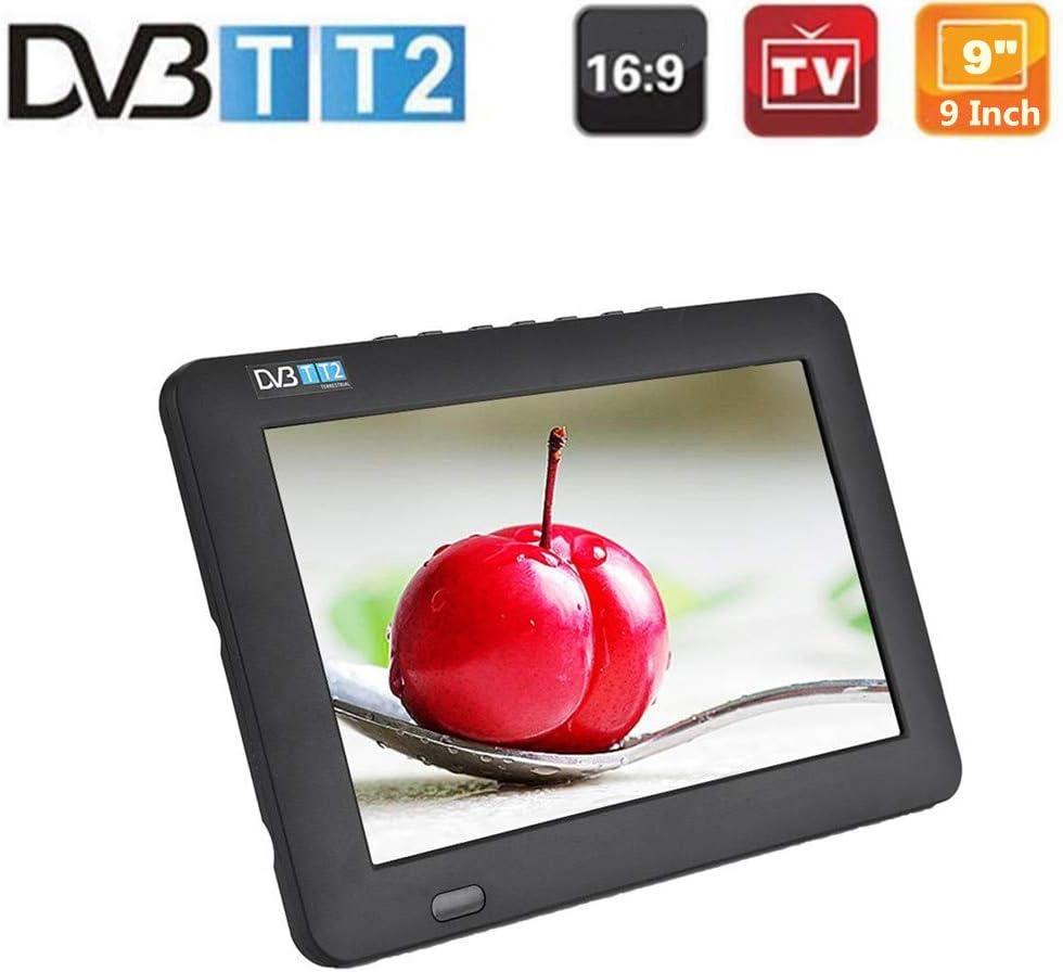 TV portátil, 9 Pulgadas DVB-T-T2 16: 9 HD TV analógica Digital ...