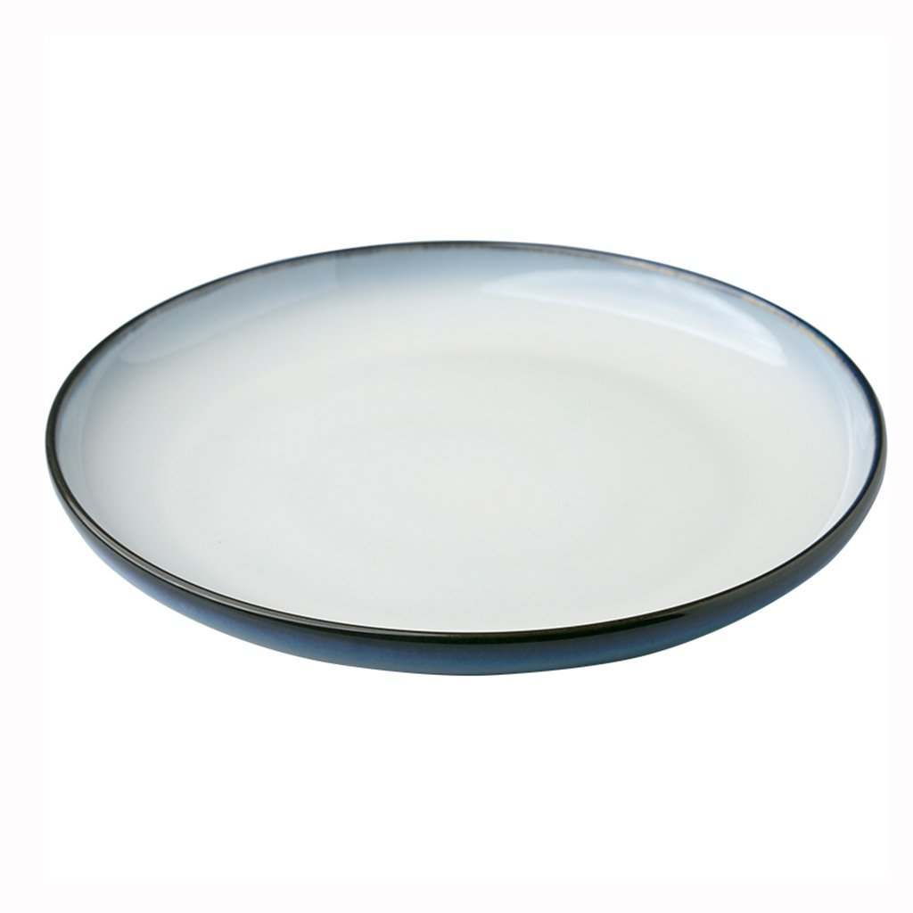 He Xiang Ya Shop European-style ceramic steak plate pasta plate creative salad plate flat plate home 28 cm (11 inches)