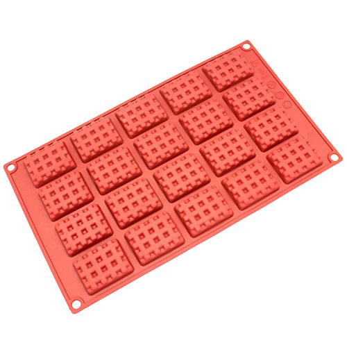 Freshware SL 137RD 20 Cavity Rectangle Chocolate