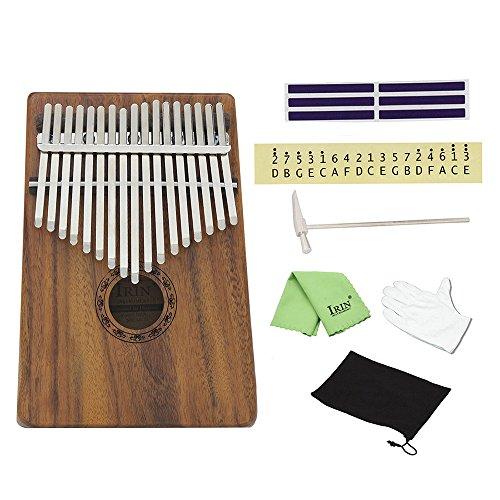 ammoon 17 Key Kalimba Mbira Pocket Thumb Piano Solid Acacia Musical Instrument Gift