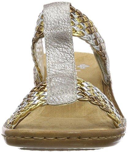 Gold silber Ciabatte Donna Multicolore Altsilber Rieker 608p5 fX8II
