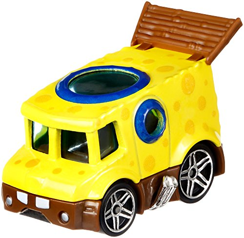 Hot Wheels Spongebob Vehicle, 1:64 Scale
