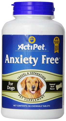 ActiPet Anxiety Free,  for Travel and Separation, 90 Chewable - Tabs Anxiety 90