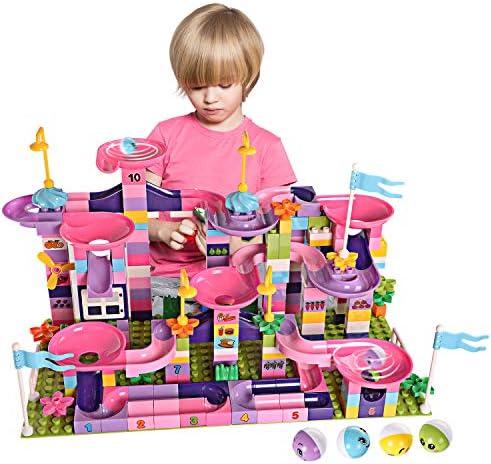 EP EXERCISE N PLAY Marble Run Large Building Blocks Classic Big Blocks STEM Toy Bricks Set Kids Race Track CompatibleAll Major Brands Bulk Bricks Set for Boys Girls Toddler Age 357 (103PCS)