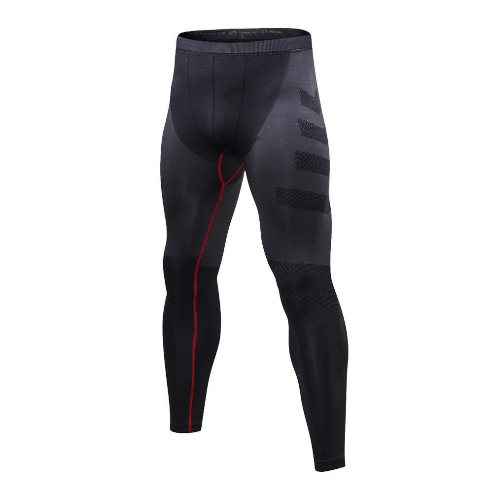 Pantalones de Fitness de los Hombres Jogger Casuales Hombre Deporte Pantalones Entrenamiento Fitness de Chándal Compresión Mallas Hombre Secado Rápido Transpirable MMUJERY