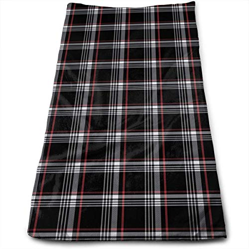 Siwbko Golf GTI Plaid Face Hand Towels Sweat Absorbend Perfect for Hot Yoga,Home,Business Professional Grade 27.5 X 12 Inch.