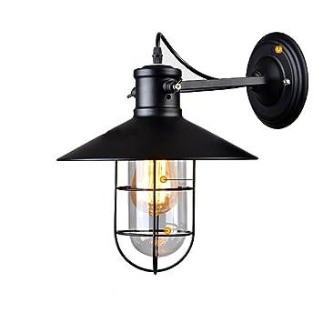 KMYX Loft American Rural 1-Light Glass Lámpara de Techo de ...