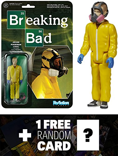 Jesse Pinkman (Cook): Funko ReAction x Breaking Bad Action Figure + 1 FREE Official Breaking Bad Trading Card Bundle (054106)