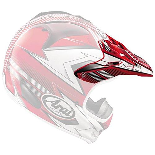 Arai VX-Pro3 Nitrous Helmet Visor Red by Arai (Image #3)