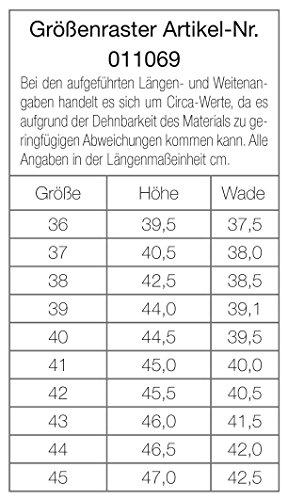 Pfiff Kunstleder-Reitstiefel XXL 406 schwarz