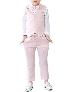 Quge Completo dei Ragazzi del Cerimonia Vestito Convenzionale Gilet +  Pantaloni + Camicia 3 Pezzi c73f58ccf6d
