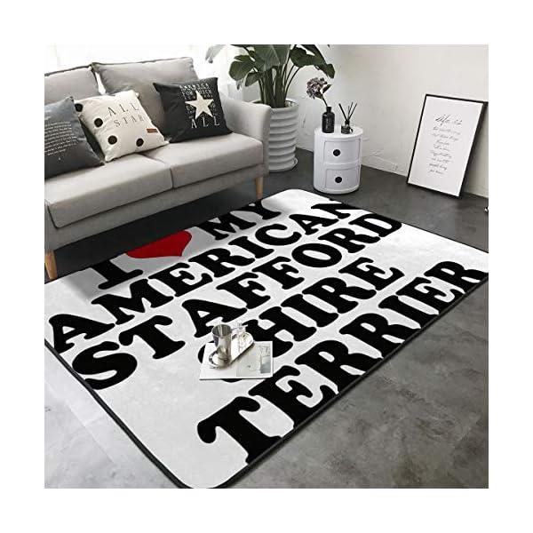 Randell Bath Mat Non Slip I Love My American Staffordshire Terrier Funny Doormat Indoor Outdoor Rug 63 x 48 in 2
