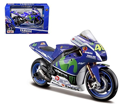 (Yamaha Factory Racing (2016 Moto GP #46 Valentino Rossi) 1/10 Scale Diecast Model Motorcycle)