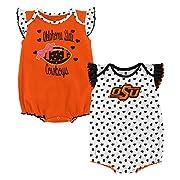 Outerstuff NCAA Oklahoma State Cowboys Newborn & Infant Heart Fan 2pc Bodysuit Set, Multi, 12 Months