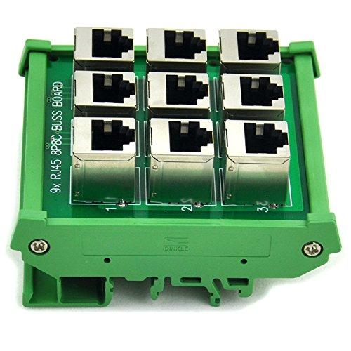 Electronics-Salon RJ45 8P8 C 9-way Buss Board supporto DIN interfaccia modulo.