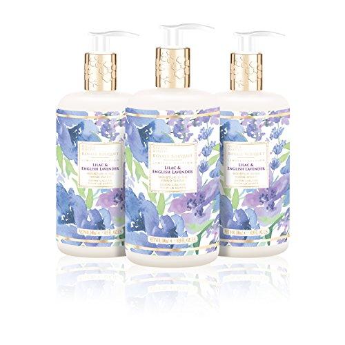 Baylis & Harding Royale Bouquet Lilac & English Lavender 500ml Bottle Hand Wash, Pack Of 3, 580 Gram -