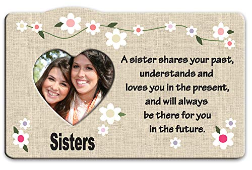BANBERRY DESIGNS Sister Picture Frame - Heart Picture Opening with a Sister Message - Birthday Gift for Sisters