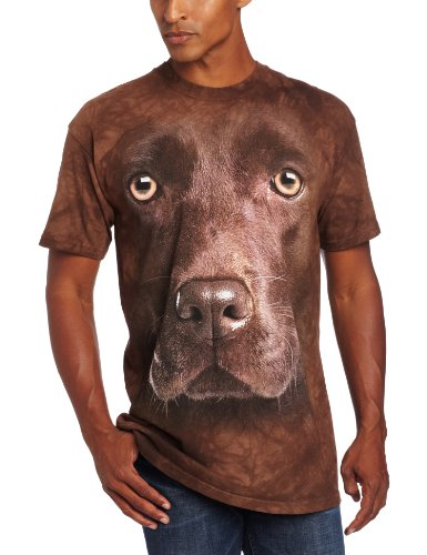 Mountain Chocolate Lab Face T Shirt